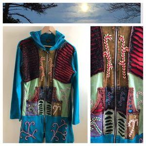 Sweaters - Hippie, Boho Knit Long Knit Sweater (sweatshirt).